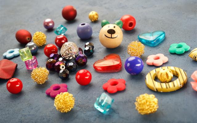 Бусины, бусины-кристаллы