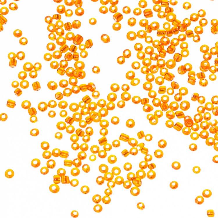 Бисер калиброванный. Оранжевый. Калибр 12 (1,8 мм)