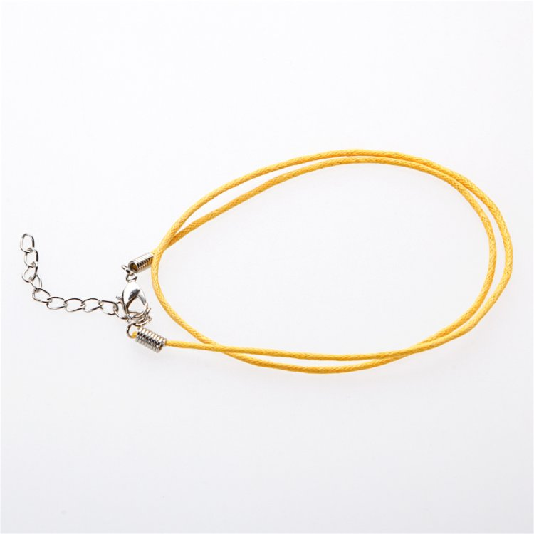 Готова основа для прикрас, гладкий гнучкий шнур, жовтий, 40 см