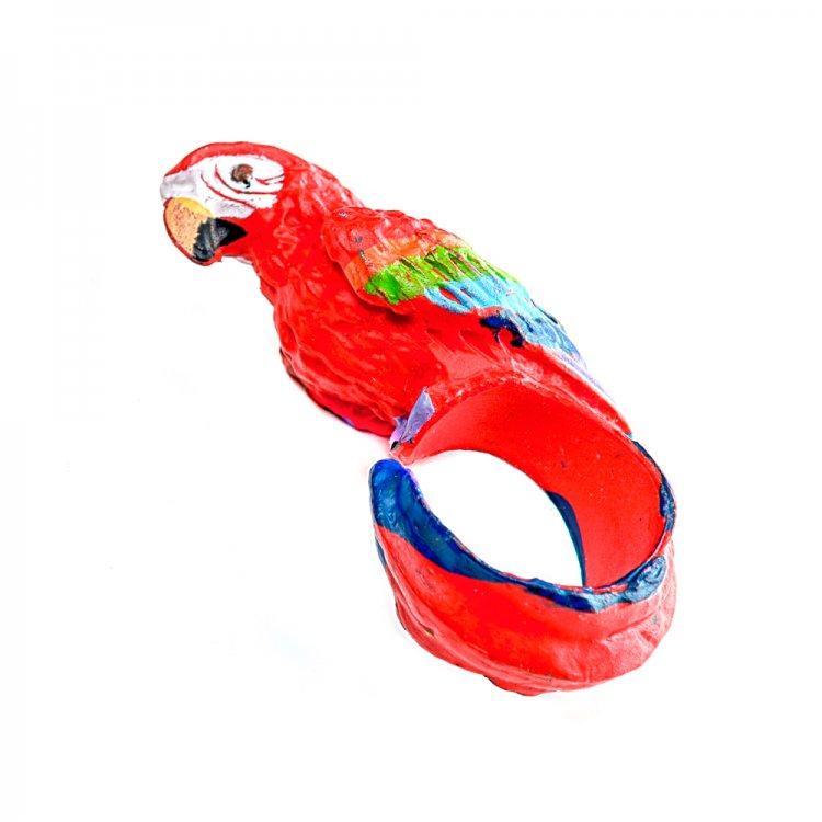 """Пластиковое кольцо """"Попугай"""""""