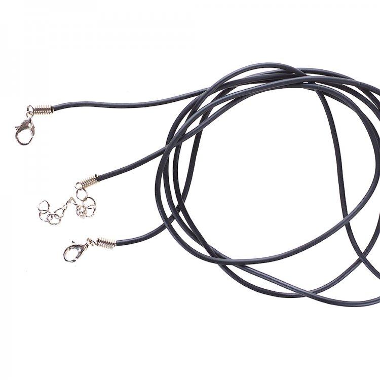 Основа для кулона, поливинилхлорид, 2 мм, чёрный