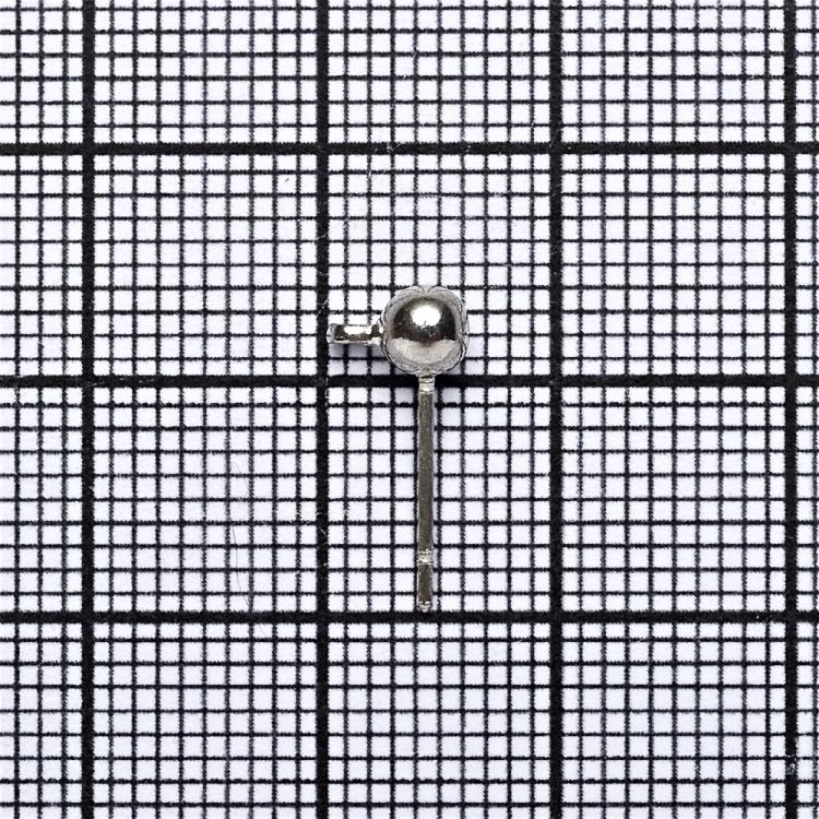 Основа для сережок гвоздик срібляста
