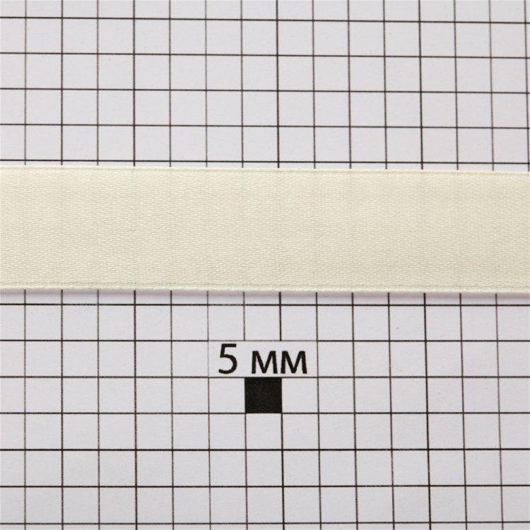 Лента атласная 14 мм кремовая