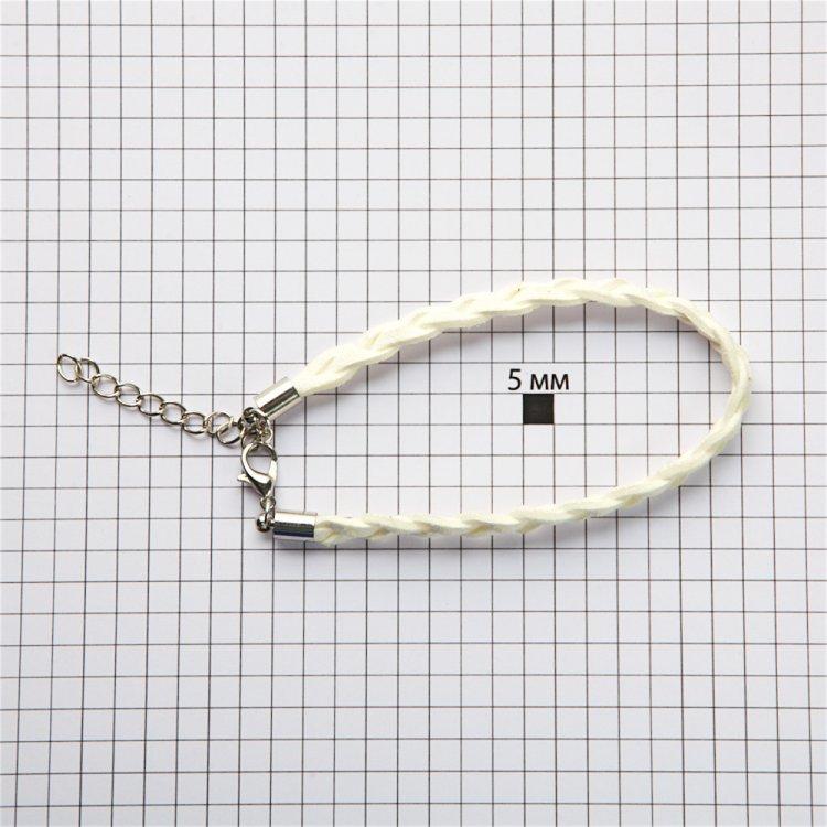 Гот.осн.для браслета замшеві плетені кіски біла