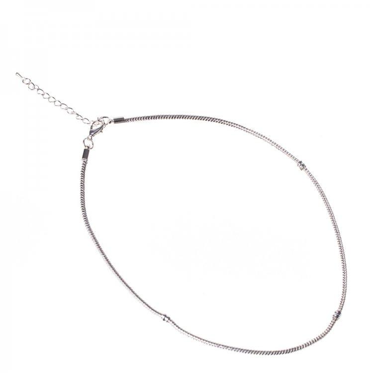 Основа для бус. Сріблястий. Довжина 45 см, діаметр 3 мм.