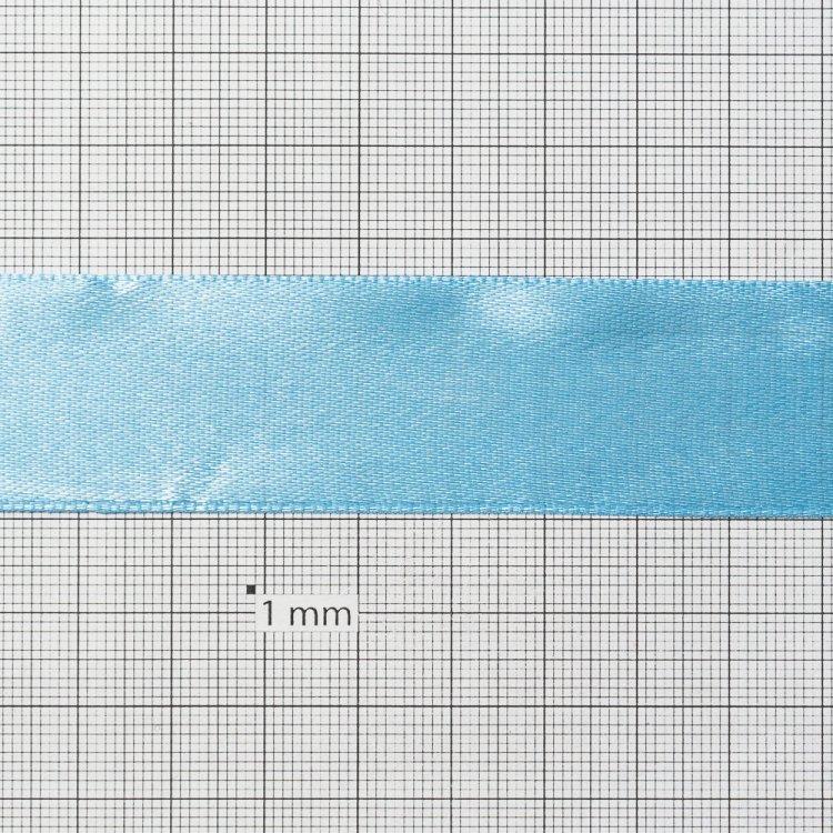 Стрічка атласна 25 мм блакитна