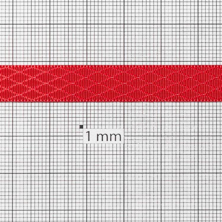 Лента атласная 10 мм ромбовидная красная