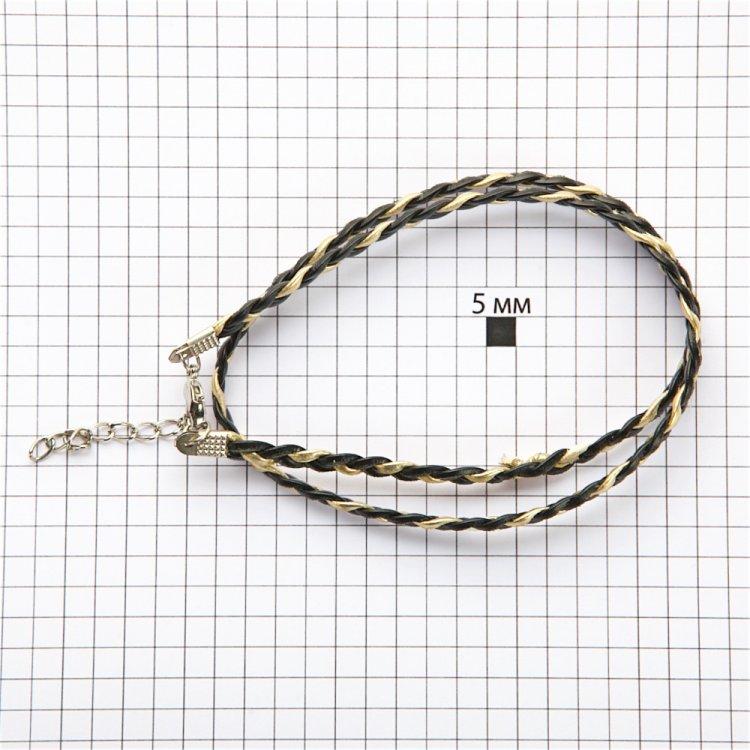 Плетеная основа для украшений косички двухцветная