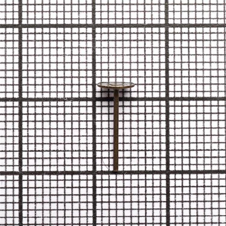 Основа для сережок гвоздик 5 мм бронзова