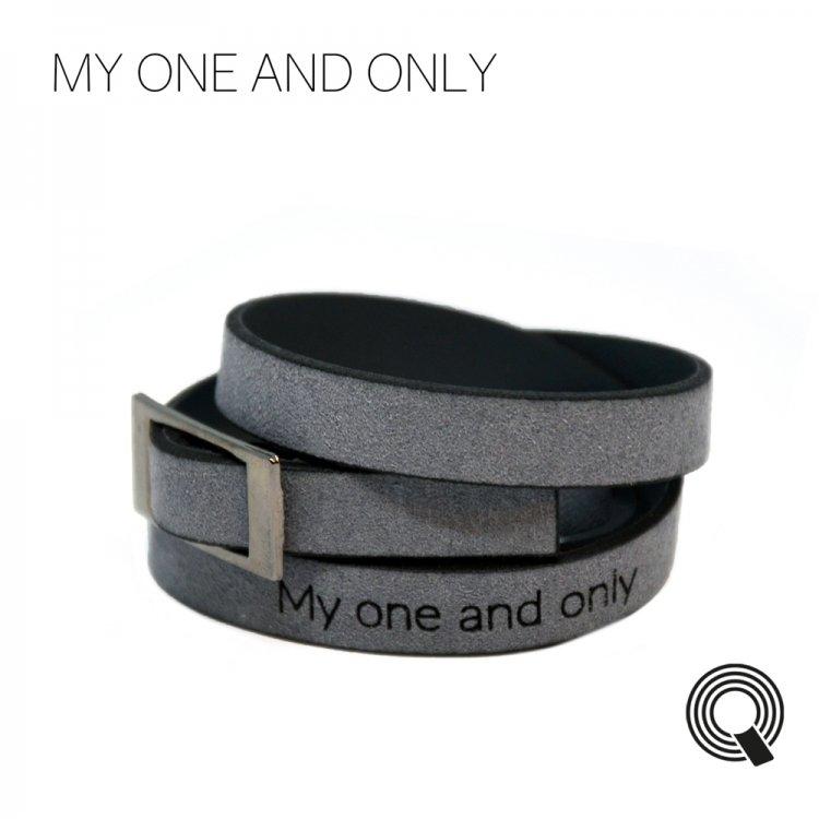 """Браслеты квоутлеты """"My one and only"""", темно-серый"""