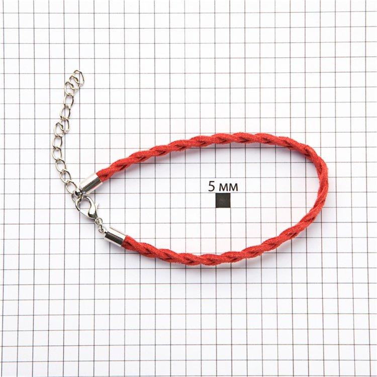 Замшевая основа для браслета плетеная косички