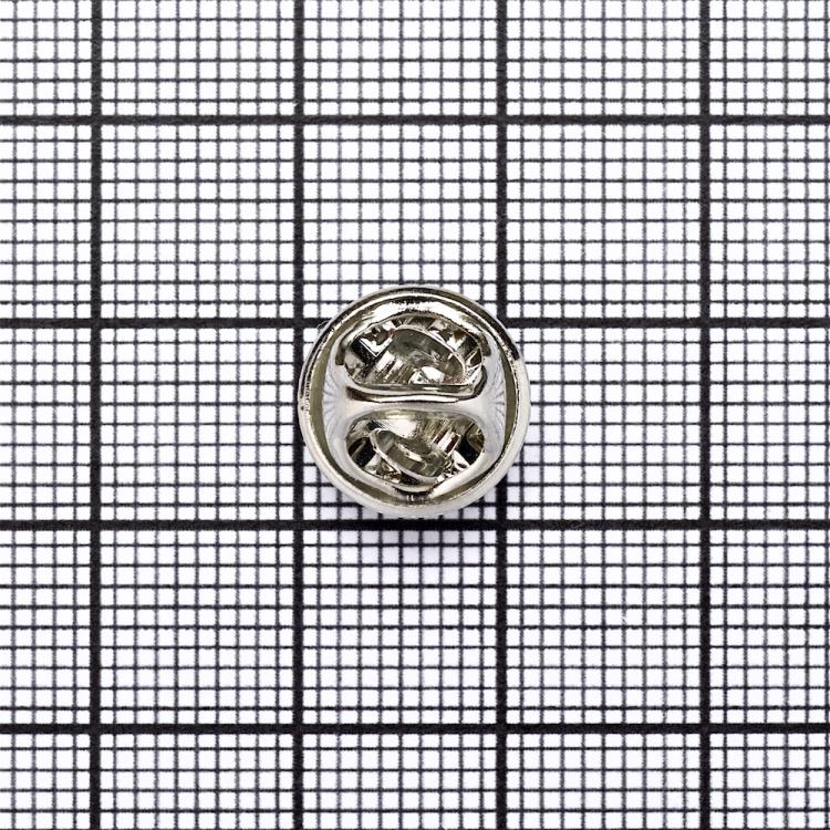 Основа для значків, мельхіор, з 2 деталей, 12 мм