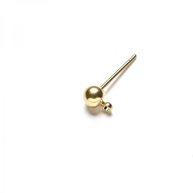 Основа для сережок гвоздик золота