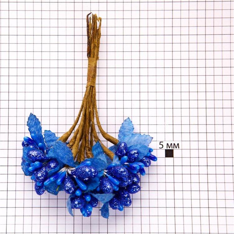 Декор Синие цветы