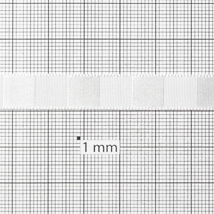 Лента атласная 10 мм полосатая белая