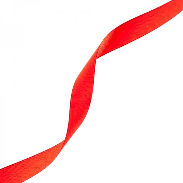 Лента атласная 14 мм красная
