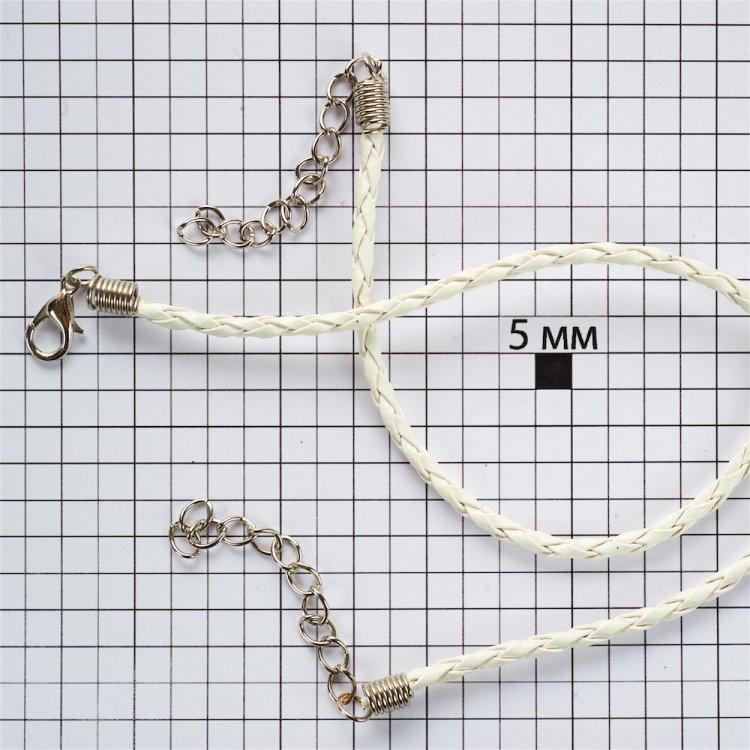 Основа для браслета біла шкірзам 3 мм