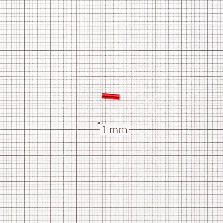 Бисер-стеклярус тёмно-красный 6 мм
