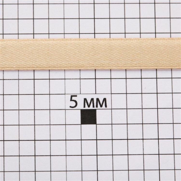 Лента атласная 10 мм кремовая