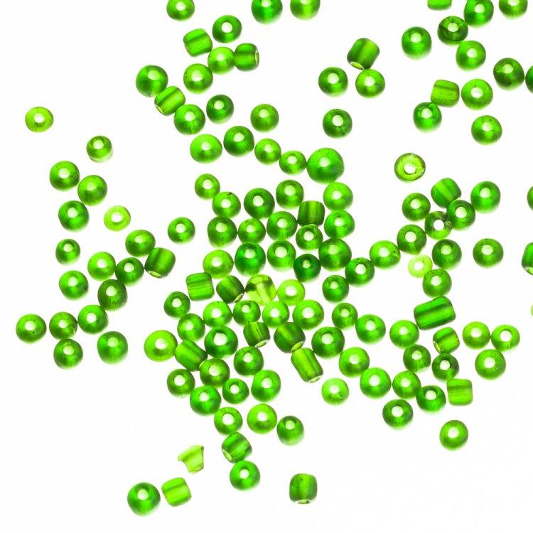 Бисер мелкий, зеленый. Калибр 12 (1,8 мм)