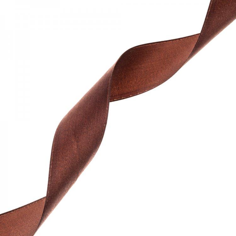 Лента атласная 30 мм коричневая
