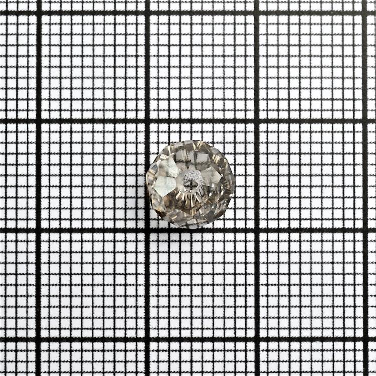 Кришталева намистина рондель 8 мм сіра прозора