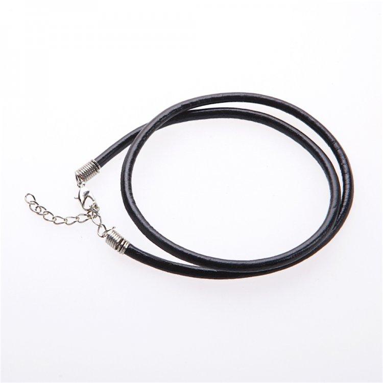 Готова основа для браслетів гладкий чорний шнур