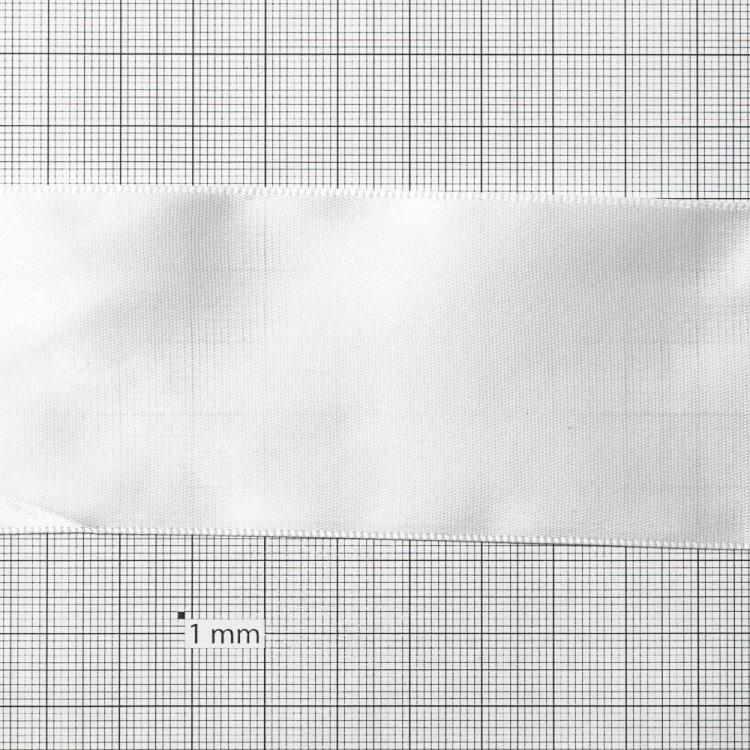 Лента атласная 50 мм белая