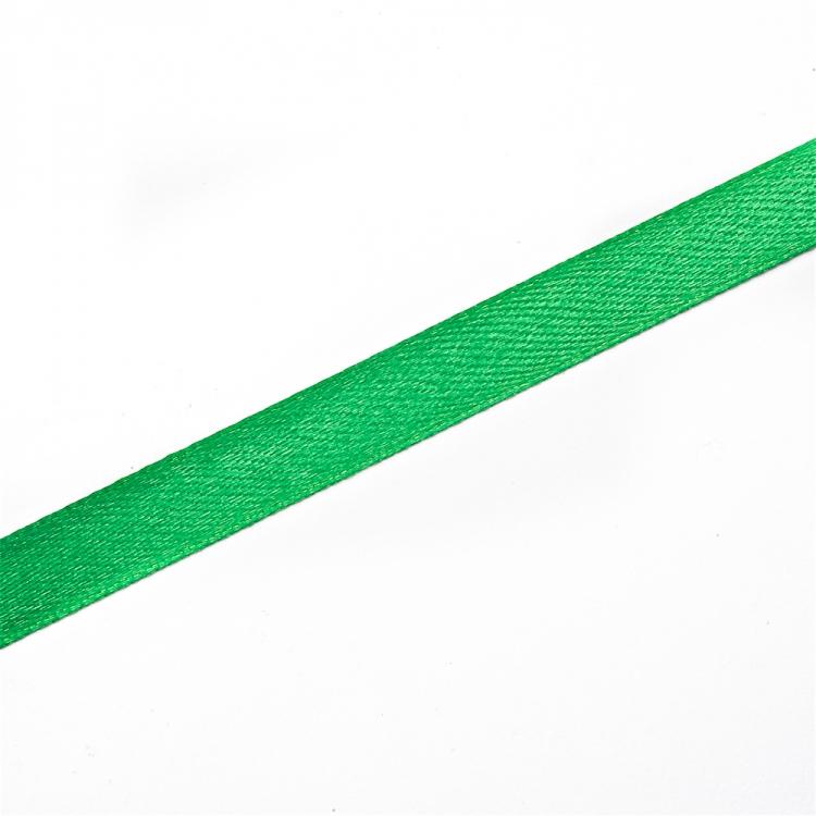 Лента атласная 10 мм зеленая