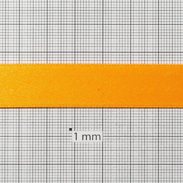 Лента атласная 14 мм оранжевая