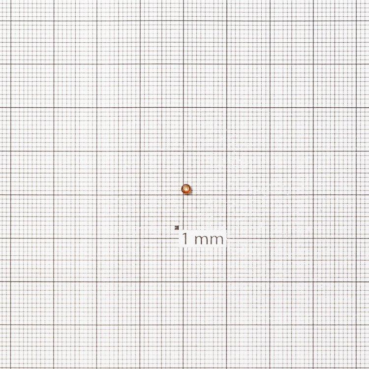Бисер круглый, мелкий, коричневый огонек. Калибр 12 (1,8 мм)