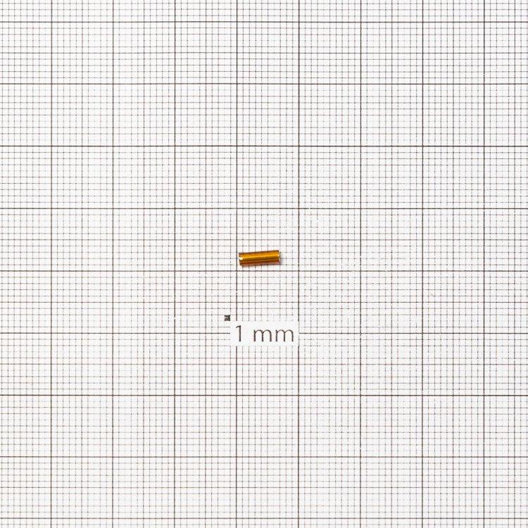 Бисер-стеклярус светло-коричневый 7 мм
