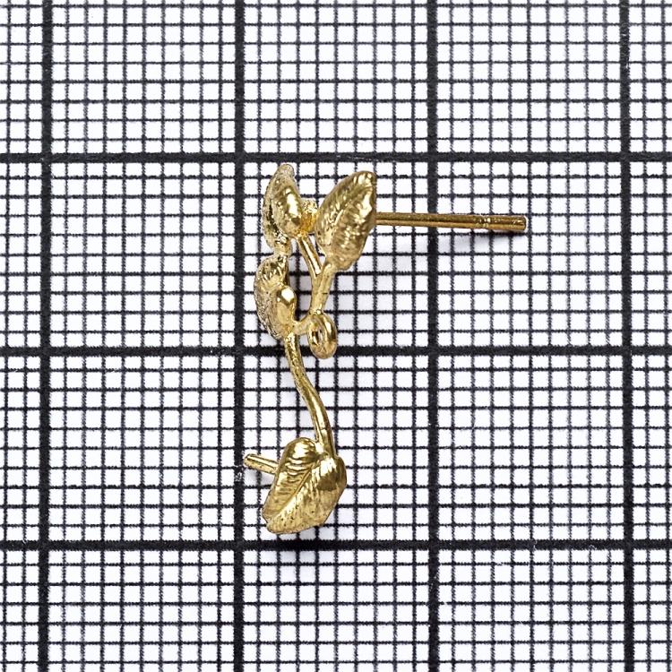 Основа для сережок-гвіздків листочки