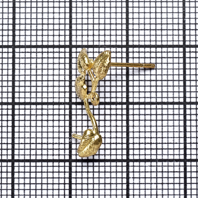 Основа для серег-гвоздиков листики