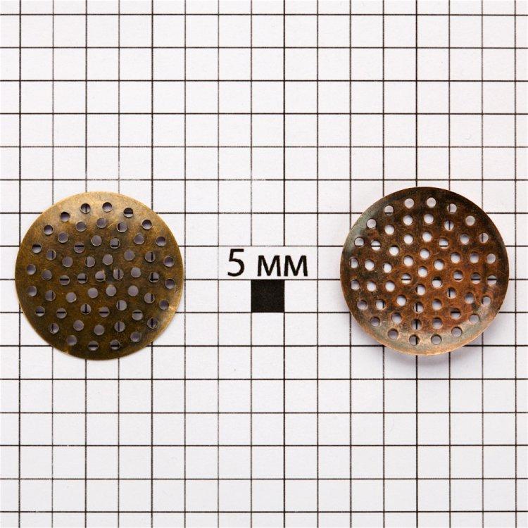 Ґратчасті основи для брошок, медь, 25 мм