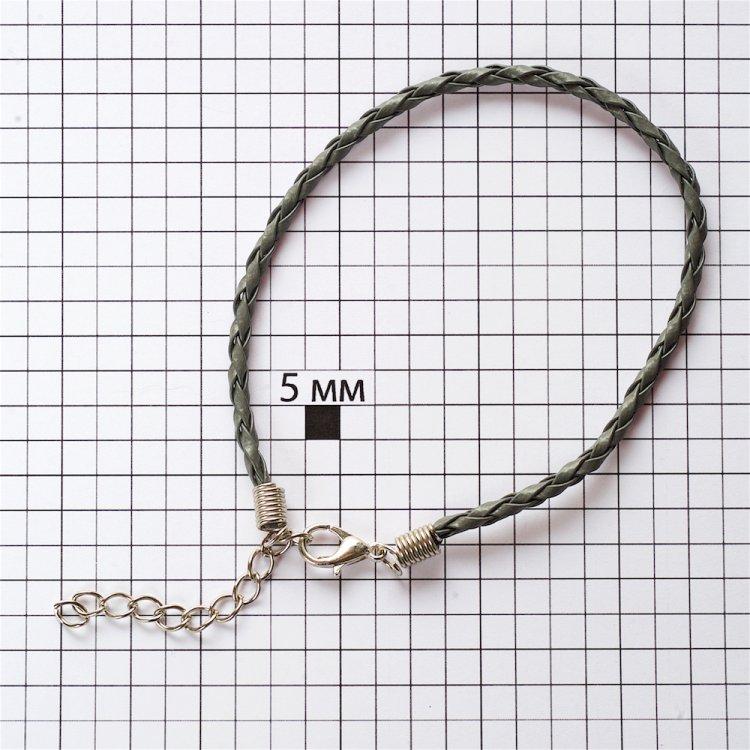 Основа для браслета серая кожзам 3 мм