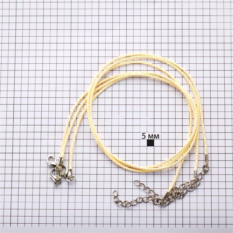 Основа для кулона, вощений шнур, світло-жовтий, 1.5 мм