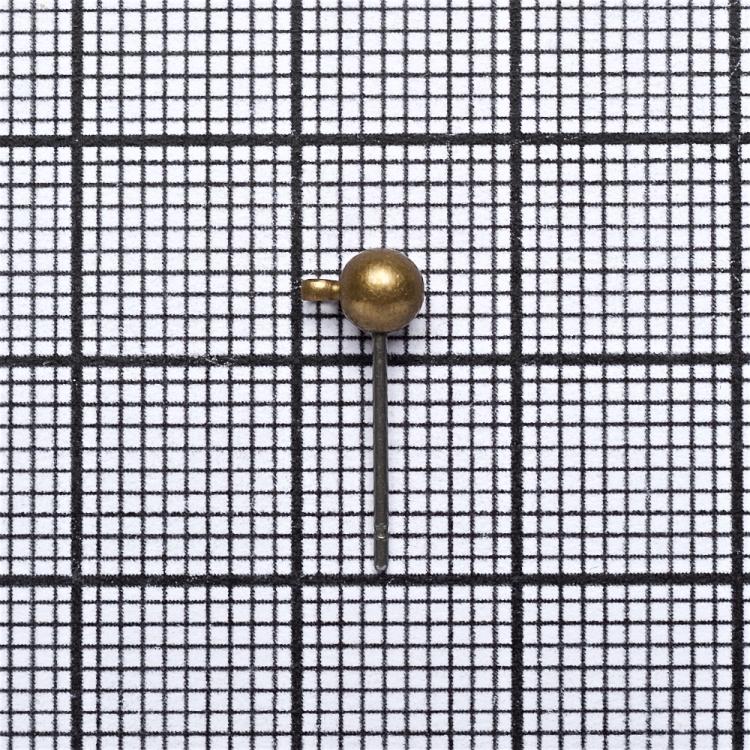 Основа для серег гвоздик бронзовая