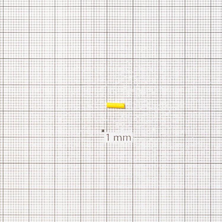 Бисер-стеклярус желтый 6 мм