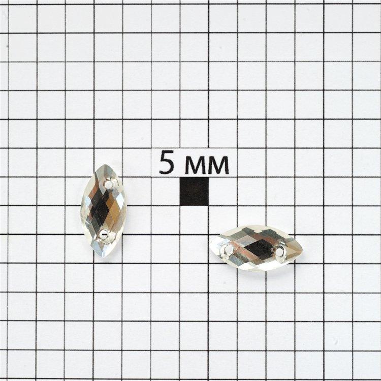 Стразы стеклянные пришивные. Прозрачный. Диаметр 16 мм.