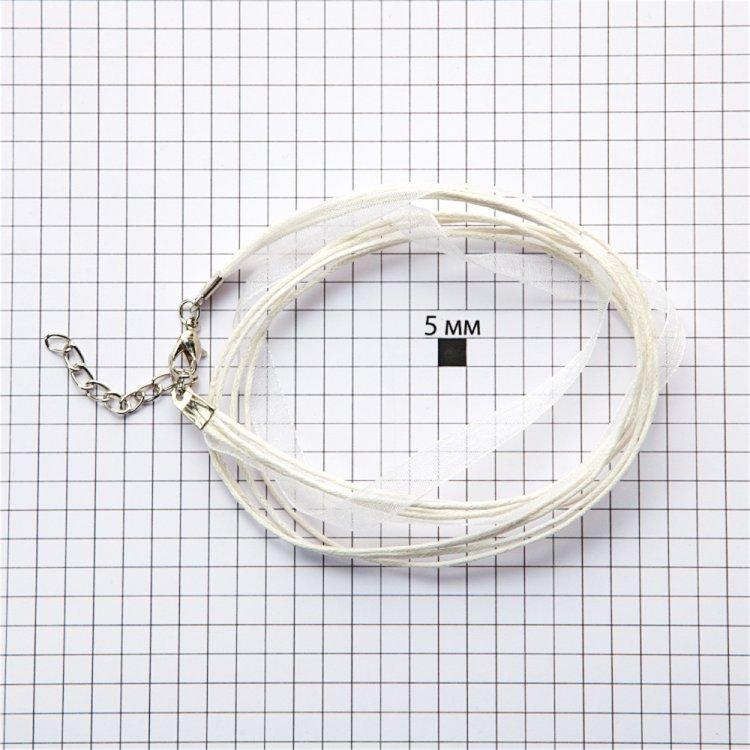 Готовая основа для украшений белая микс шнуров