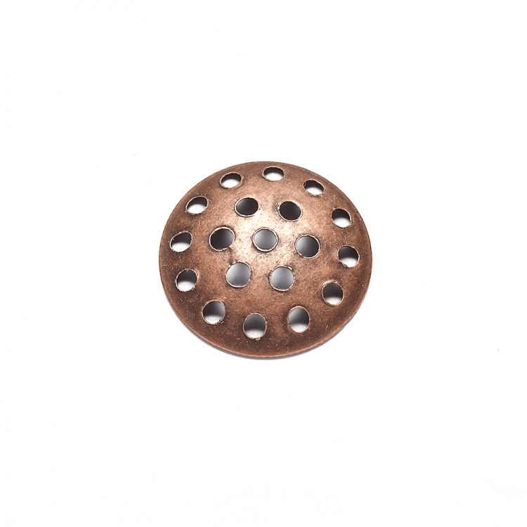 Ґратчасті основи для брошок мідні, 14 мм