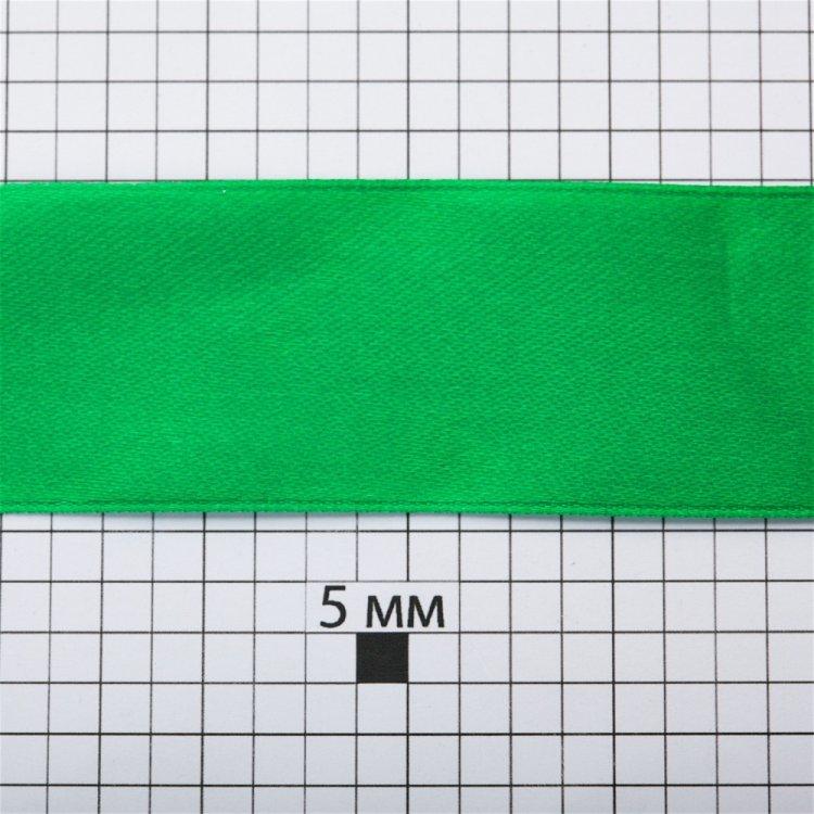 Лента атласная 30 мм темно-зеленая