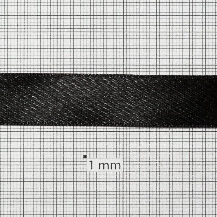 Стрічка атласна 14 мм чорна