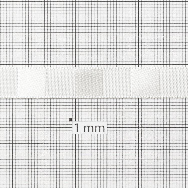 Стрічка атласна 10 мм смугаста кремова
