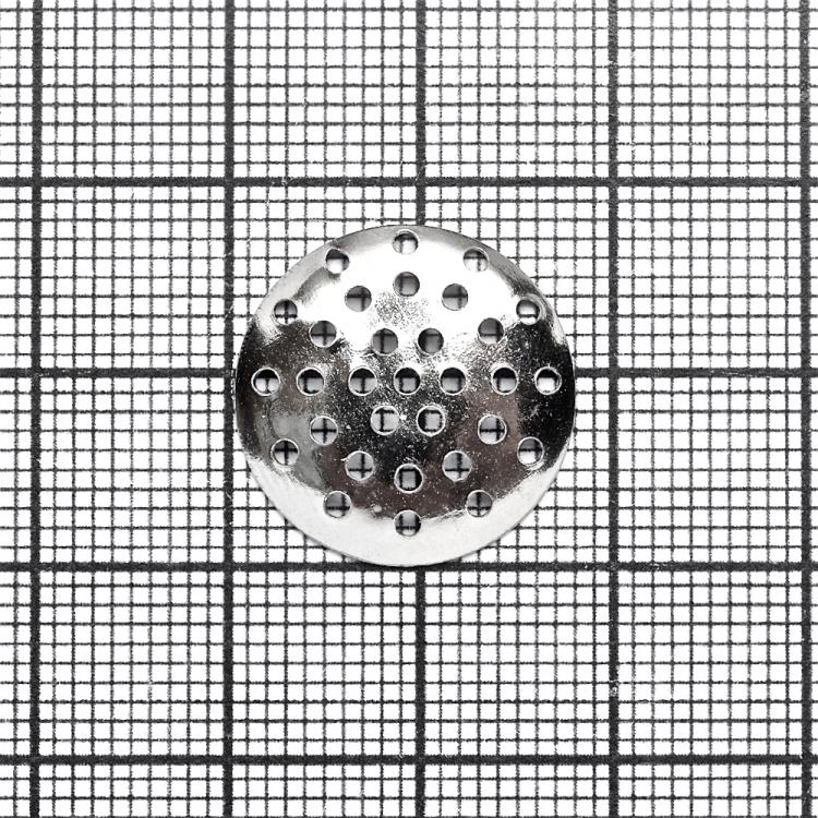 Ґратчасті основи для брошок мельхіор, 20 мм