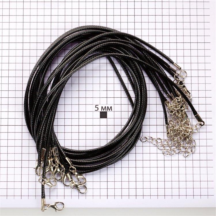 Основа для підвісок чорна бавовна з блиском 2 мм