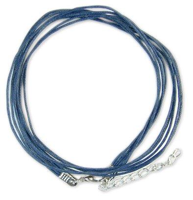 Готовые основы - хлопковый шнур темно-синий