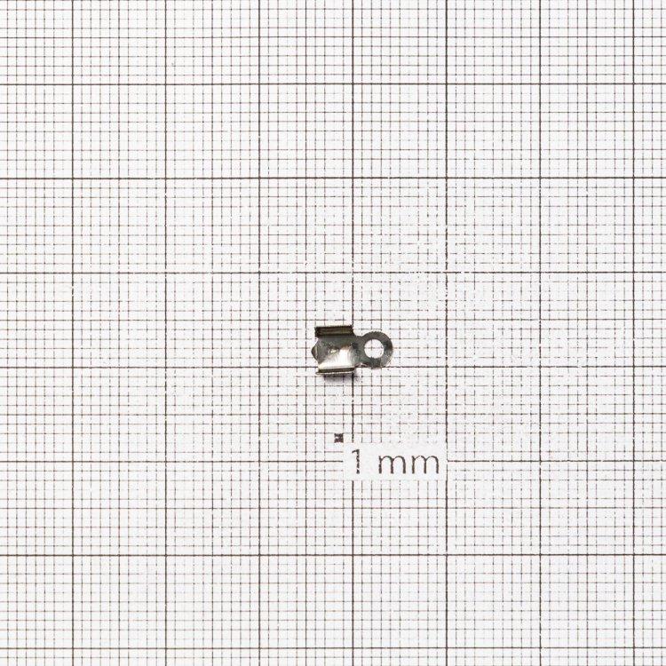 Зажимы для нитей. Темная сталь. Длина 3 мм, ширина 2 мм.