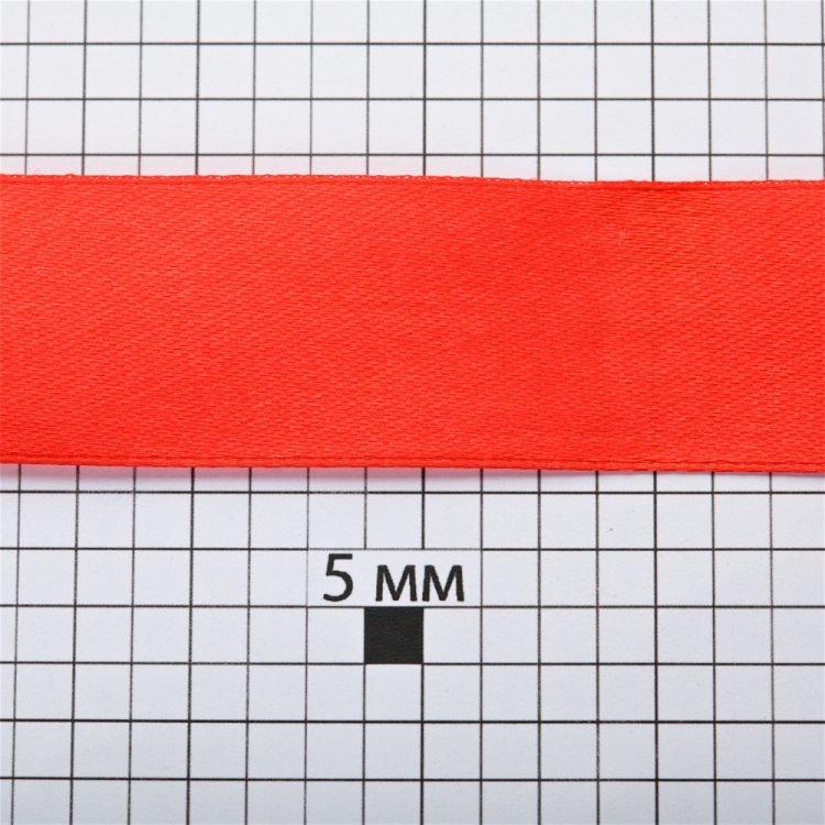 Стрічка атласна 25 мм червона